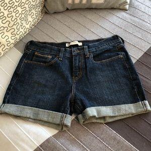 Levis 515 4 Jean Shorts Cuffed Medium Wash Classic